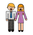 business persons couple avatars characters vector image