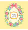 Easter wreath egg vector image