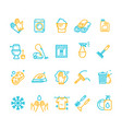 household and cleaning tools color thin line icon vector image