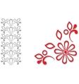 Red grey ornamental frame vector image