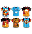 set of colorful templates t-shirts men and woman vector image
