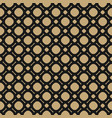 simple black and gold geometric seamless pattern vector image