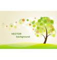 summer background with abstrac vector image
