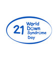world down syndrome day logo in design vector image