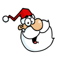 Santa Claus Head Portrait vector image