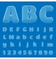 BluePrint Alphabet eps10 vector image vector image