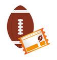 Football ball and football match ticket vector image
