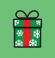 gift box symbol vector image