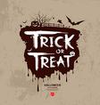 Halloween trick or treat message vector image