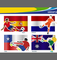 Soccer football players Brazil 2014 group B vector image