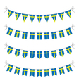 swedish bunting vector image vector image