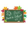 Board back to school vector image vector image