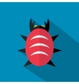 Bug icon with shadow vector image
