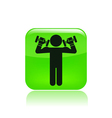 weightlifting icon vector image vector image