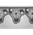 Unilateral Black seamless lace braid Lacy vector image