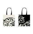 Shopping bag design floral ornament vector image vector image