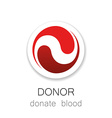 donor donate blood vector image