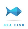 Fish geometric icon vector image
