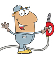 Hispanic Gas Attendant Man vector image