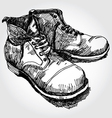 Old boots vector image