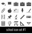 school icon set 1 gray icons on white background vector image