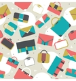 Seamless pattern fashion bags and clutches in vector image