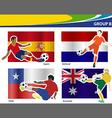 Soccer football players Brazil 2014 group B vector image