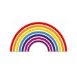 Rainbow icon flat vector image