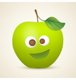 Funny green apple vector image vector image
