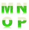 alphabet green beer MNOP vector image vector image