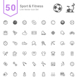 Sport and Fitness Line Icon Set vector image vector image