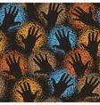 Hand art tile vector image