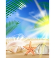 Sand sky and sea as background vector image