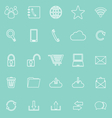 Communication line icons on green background vector image