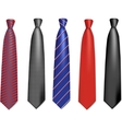 neck ties vector image vector image