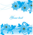 Blue Floral Background with Text Space vector image
