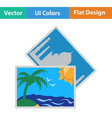 Icon of two travel photograph vector image