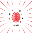 Brain Logo silhouette top view design vector image
