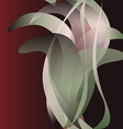 Dark flower isolated abstract background vector image