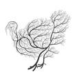 farm animals stylized bushes turkey vector image