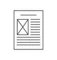 file document digital archive paper vector image