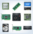 Hardware icon collection vector image