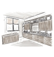 Room interior sketch vector image