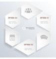 web infographic concept vector image