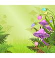 Magic landscape vector image