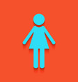 woman sign   whitish icon on vector image