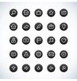 web ui icon set vector image