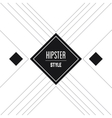 Frame icon Hipster style design graphic vector image