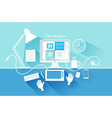 Flat design of modern devices vector image