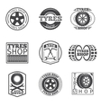 Tyre store logo Vintage car label vector image